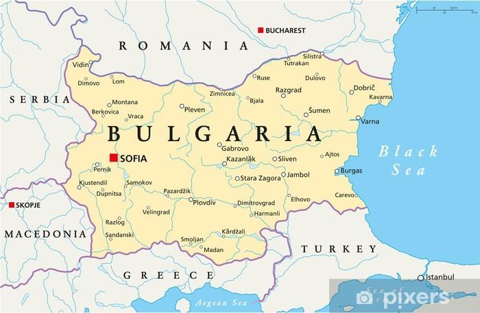Bulgarien Kort Bulgarien Landkarte Pixerstick Klistermaerke