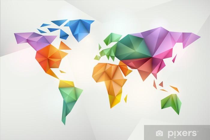 Carte Du Monde Origami.Papier Peint Carte Du Monde De Fond Dans Le Style Origami Pixers