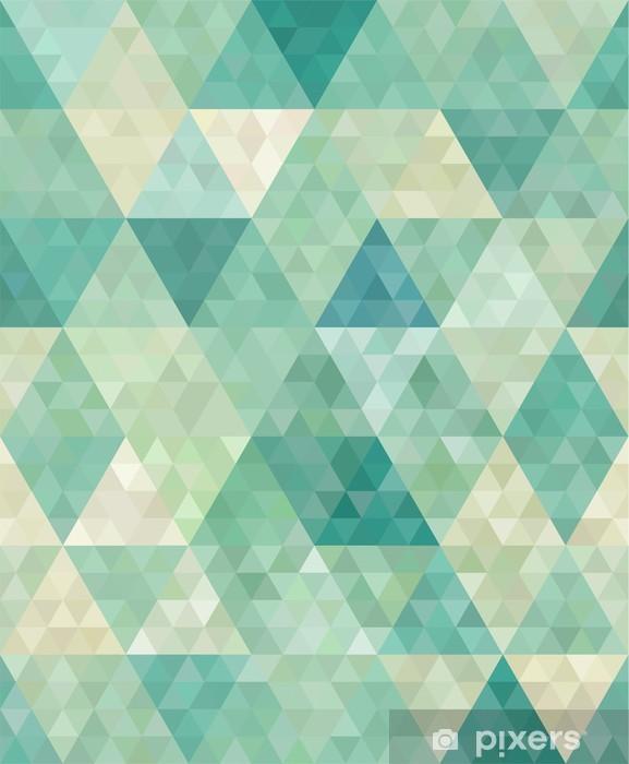Fototapeta winylowa Bezszwowe tło z abstrakcyjnym ornamentem geometrycznym - Style