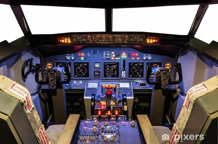 Naklejka Pixerstick Kokpicie symulatora lotu domowej roboty - Boeing 737-800 - iStaging