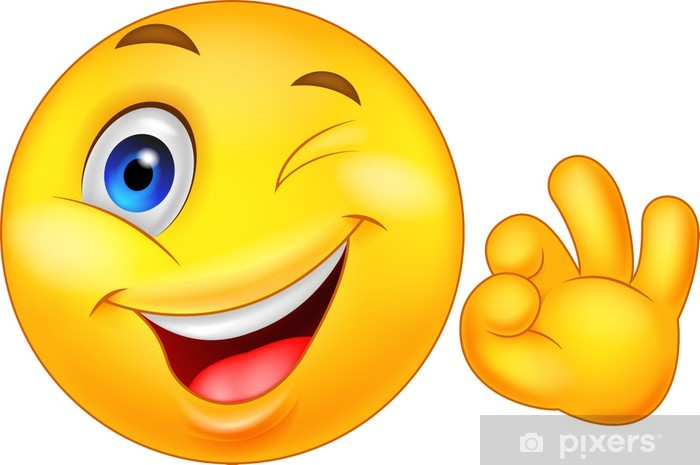 Smiley emoticon with ok sign Sticker • Pixers® - We live to change