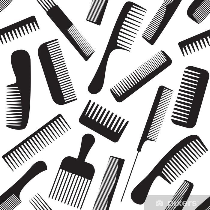 Combs seamless pattern Pixerstick Sticker - Destinations