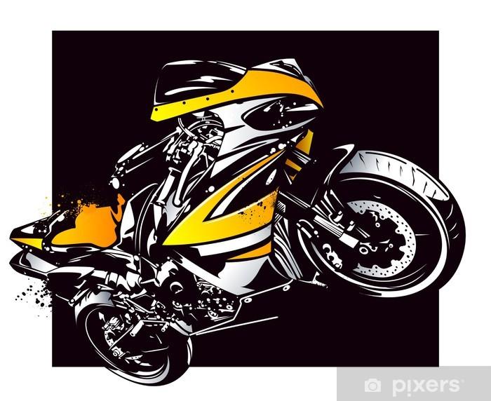 Papier peint vinyle Moto Sport - Sur la route