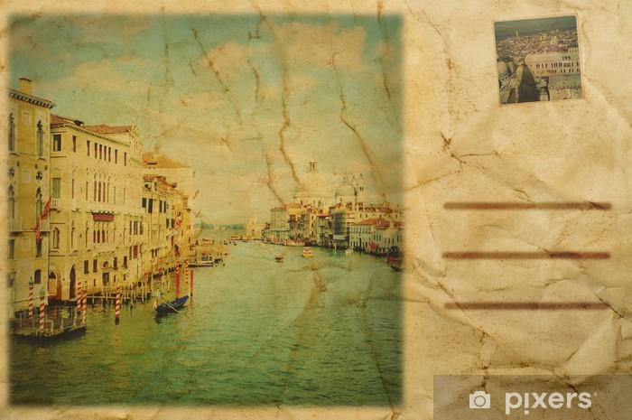 Vinylová fototapeta Pohlednice Benátky, Itálie - Vinylová fototapeta