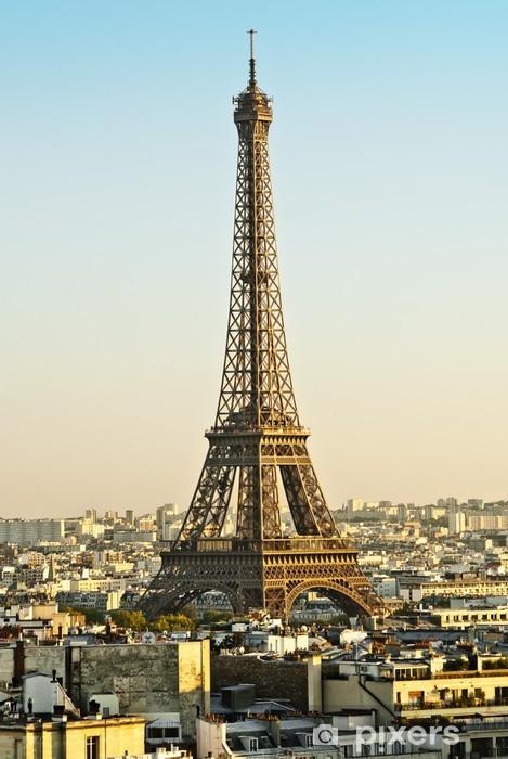Nálepka Pixerstick Eiffelturm - Evropská města
