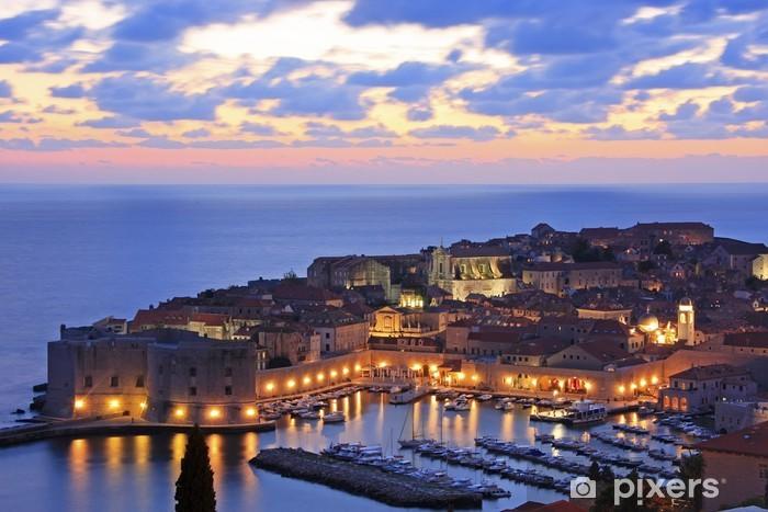 Fotomural Estándar Old Harbour en Dubrovnik, Croacia - Temas