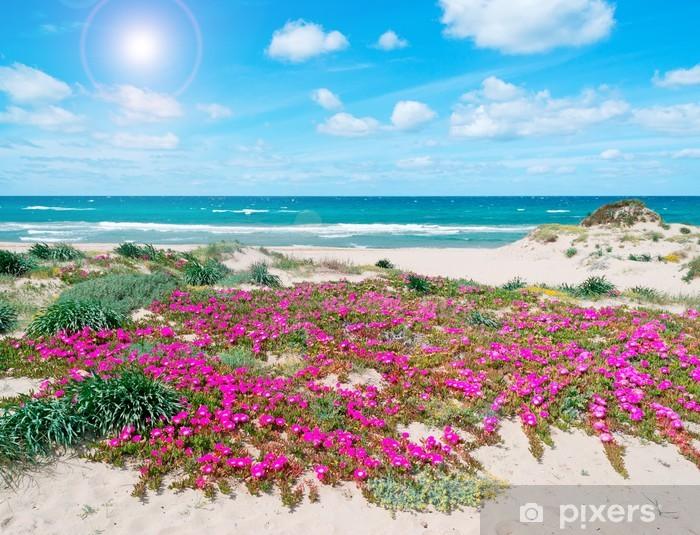 Sticker Pixerstick Fleurs et de sable au printemps - Europe