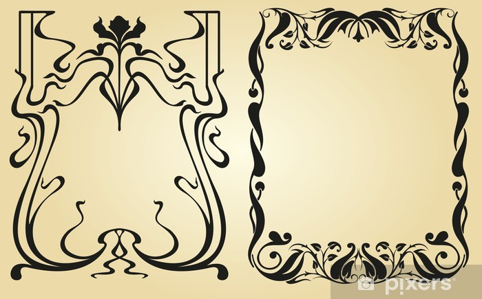 Sticker pour table et bureau Cadre et des éléments de décoration Art Nouveau - Concepts