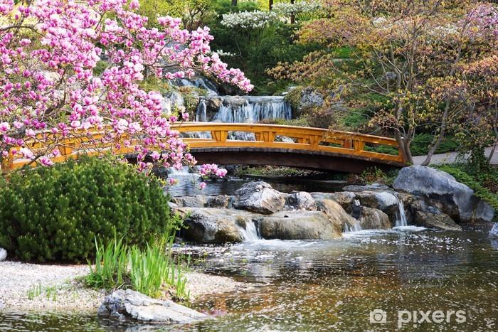 Papier peint vinyle Jardin japonais au printemps - Thèmes