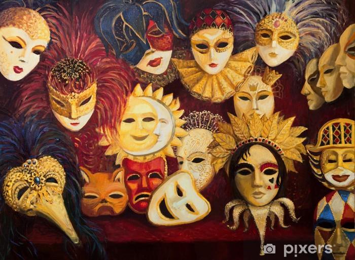 Papier peint vinyle Masques venitiens - Villes européennes
