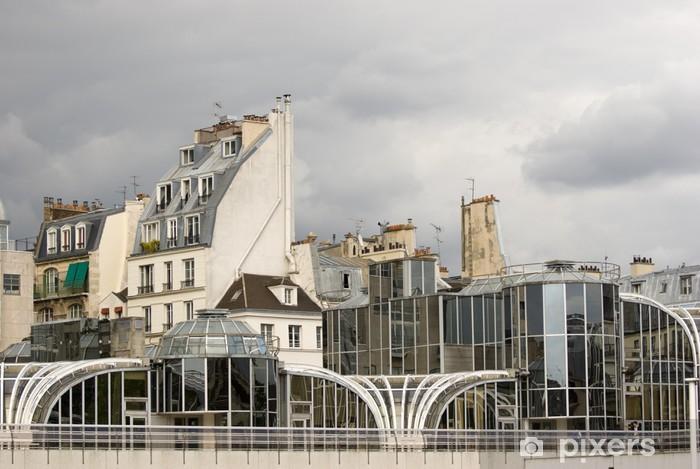 Pariisi Vinyyli valokuvatapetti - Yksityiset Rakennukset