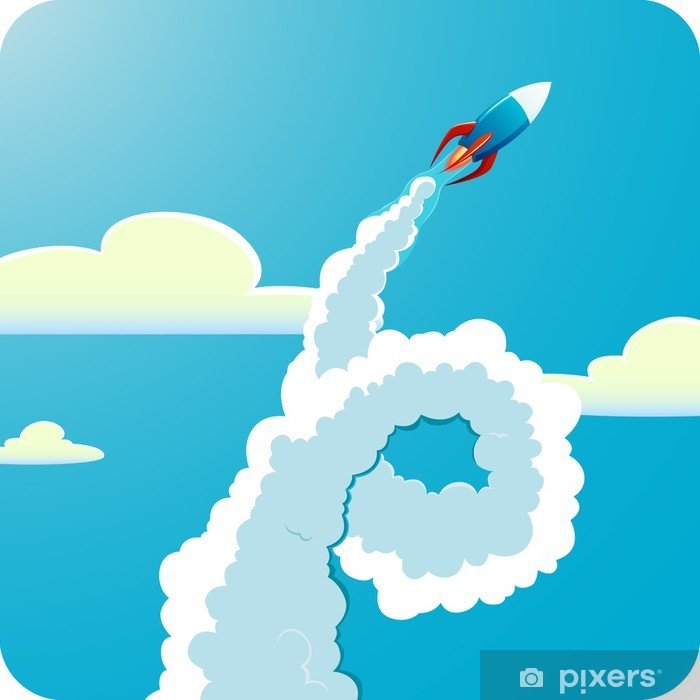 Flying rocket Framed Poster - Destinations