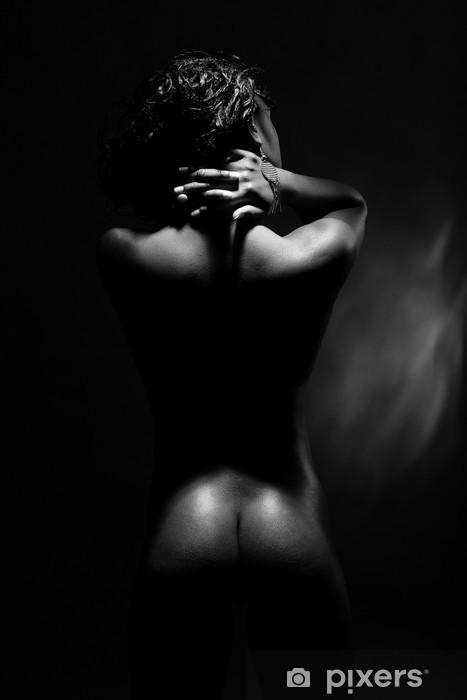 Fototapeta winylowa Czarna kobieta nagie plecy. - Tematy