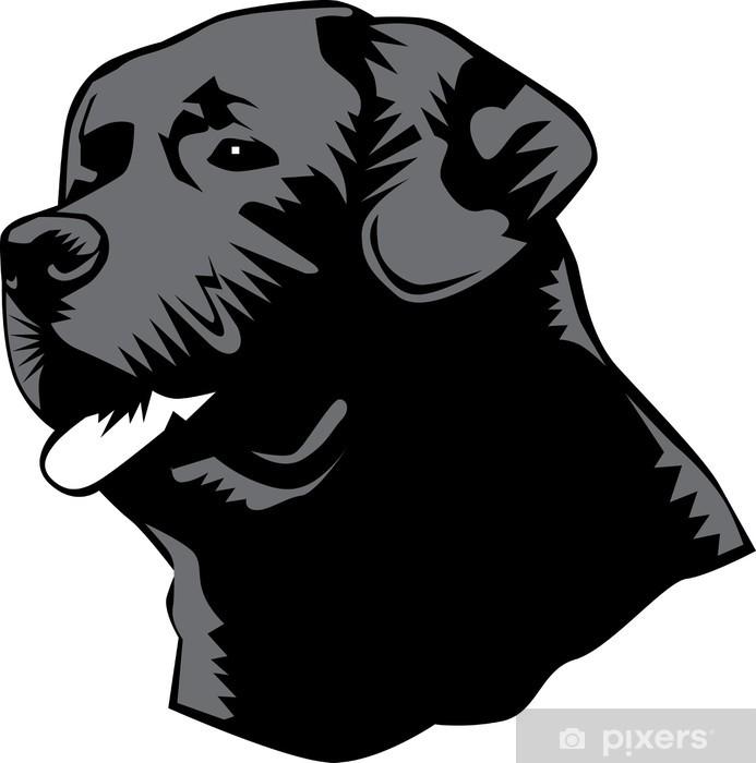 Pixerstick Sticker Labrador hoofd - Zoogdieren