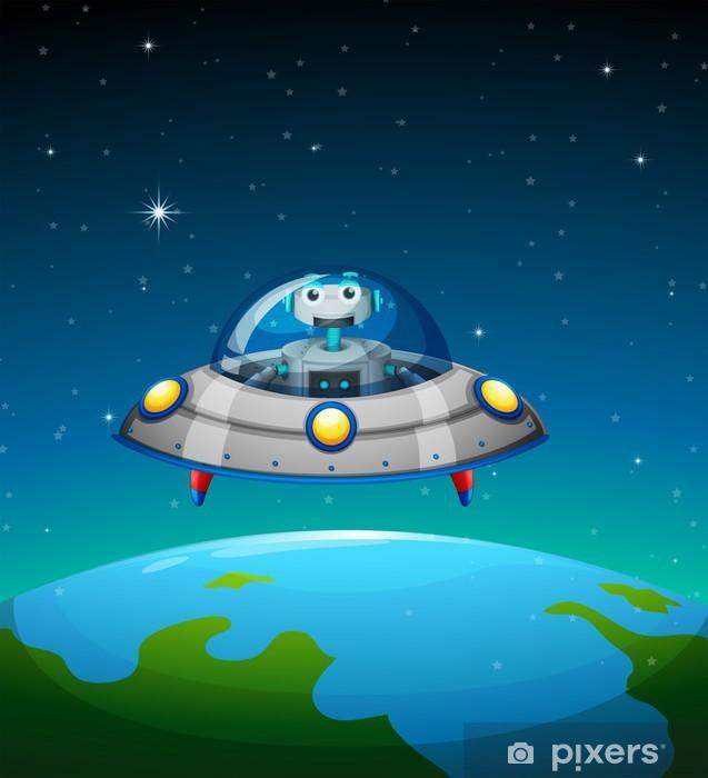 Naklejka Pixerstick Robot wewnątrz statku kosmicznego - Przeznaczenia
