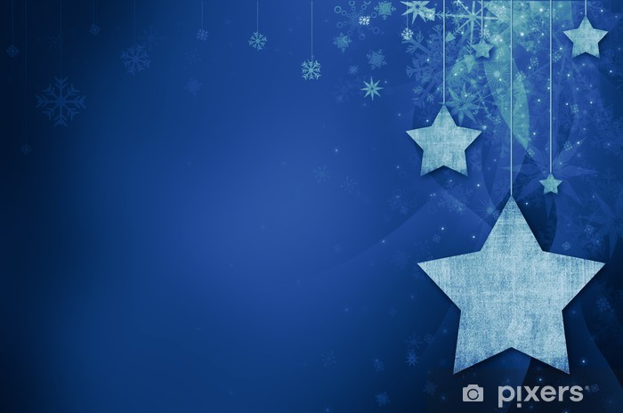 Festive dark blue Christmas background