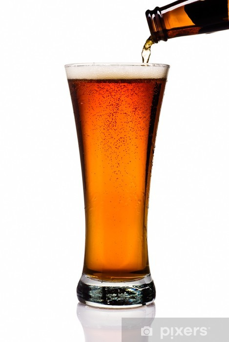 Nálepka Pixerstick Nalévání Amber Lager Into půllitr - Alkohol