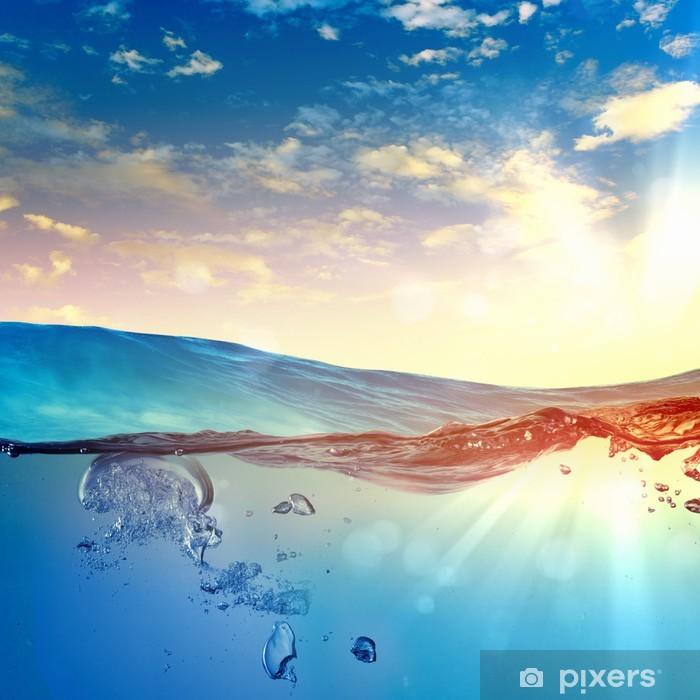 Papier peint vinyle Vague de mer avec des bulles - Merveilles naturelles