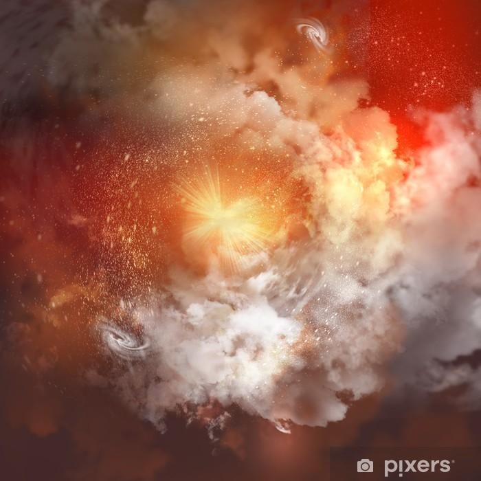 Papier peint vinyle Nuages cosmiques de brouillard - Liberté