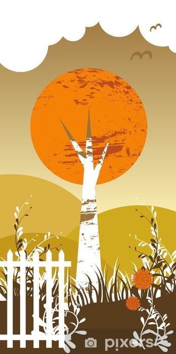 Papier peint vinyle Bouleau pleureur arbre - Campagne