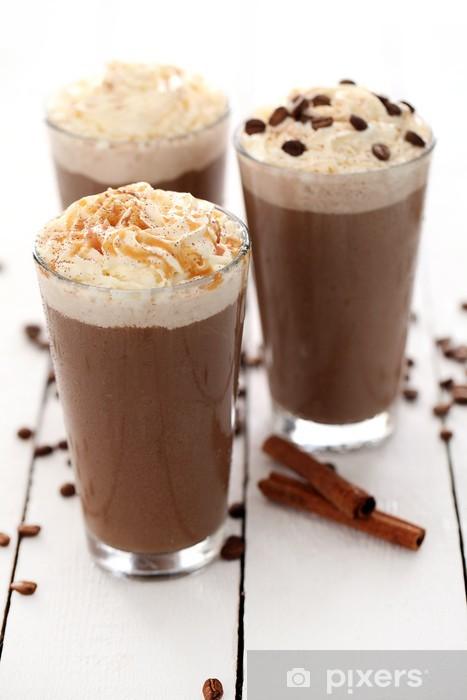 Vinilo Pixerstick Café helado con crema batida - Temas