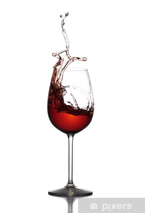 Sticker Verre de vin verre de vin rouge Pixerstick