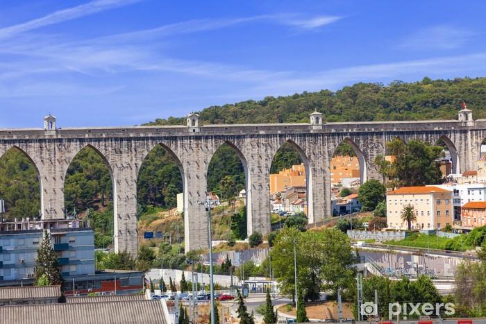 Naklejka Pixerstick Akwedukt w Lizbonie, Portugalia - Wakacje