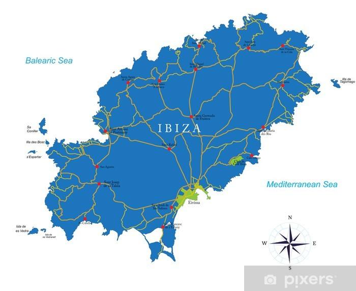Ibiza Kartta Tapetti Pixers Elamme Muutoksille