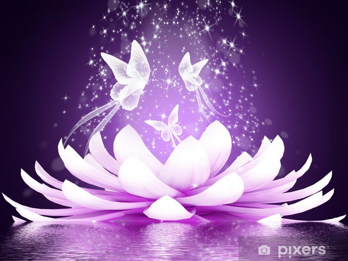 Beautiful lotus flower Vinyl Wall Mural - Styles