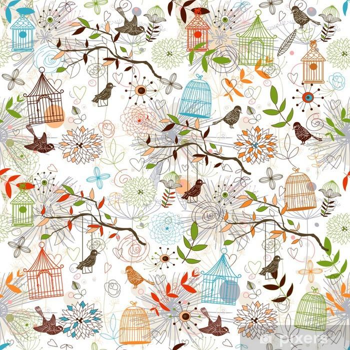 Poster Motif oiseaux -