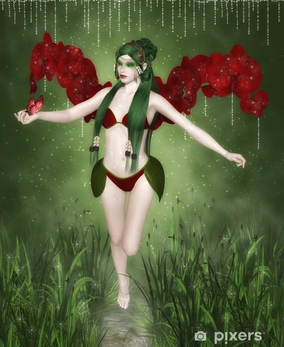 Fototapeta winylowa Czerwona orchidea - Inne uczucia