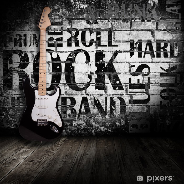 electric guitar in the room Pixerstick Sticker - Themes