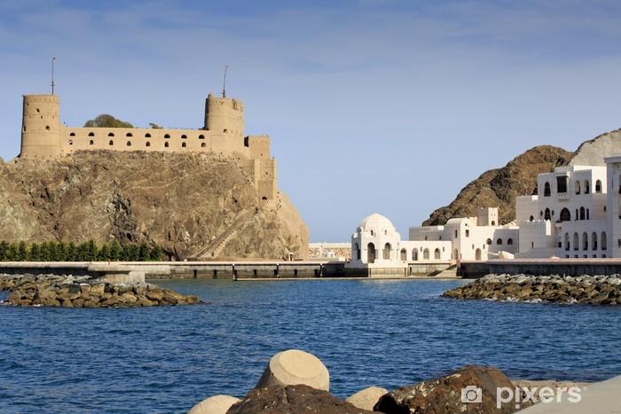 Vinyl-Fototapete Sultanspalast Komplex mit Al-Jalali Fort in Old Muscat - Naher Osten