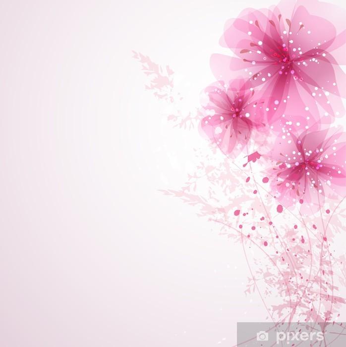 Sticker Vecteur de fond avec des fleurs pastels Pixerstick