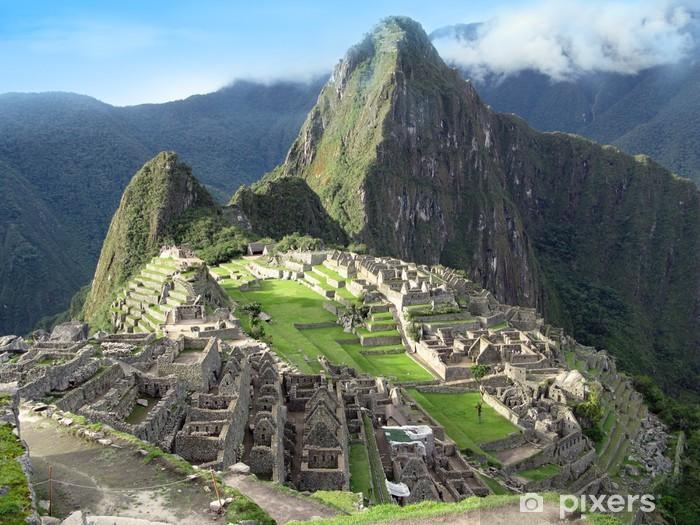 Fotomural Estándar Visión general Machu Picchu. Ciudad Perdida de los incas templo. Perú - Temas