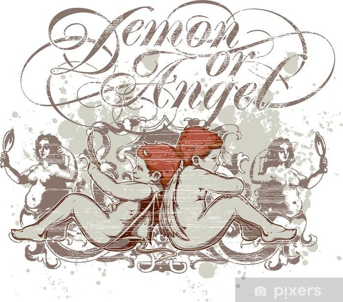 Poster Démon ou ange - Signes et symboles