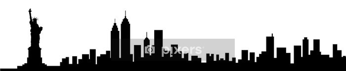 New York City Skyline Silhouette Wall Decal - Wall decals