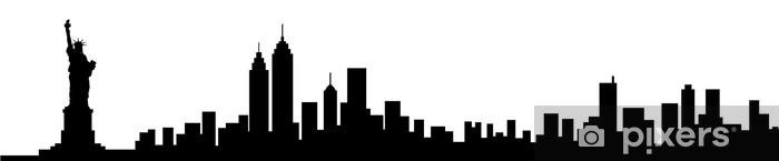 Fotomural Estándar New York City Skyline Silhouette - Vinilo para pared