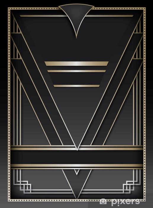 Klesskapklistremerke Art Deco Bakgrunn og Ramme - Mote