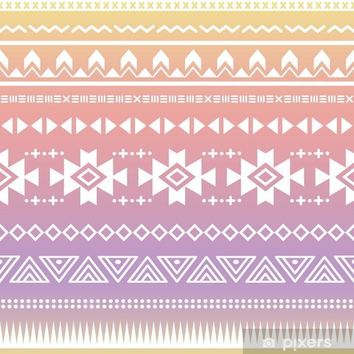 Tribal aztec ombre seamless pattern Pixerstick Sticker - Styles