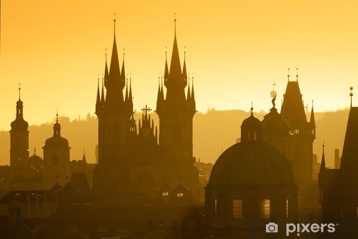 Fototapeta winylowa Praga - wieże starego miasta - Praga