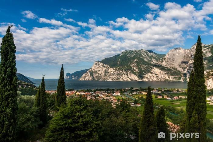 Naklejka Pixerstick Widok na jezioro Garda - Europa