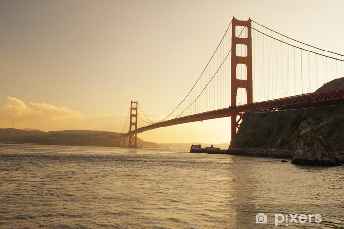 Naklejka Pixerstick Golden Gate Bridge, San Francisco, Kalifornia - Miasta amerykańskie