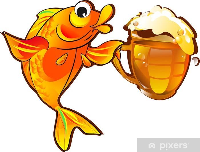 Юбилеем александр, прикольные картинки рыбка с пивом