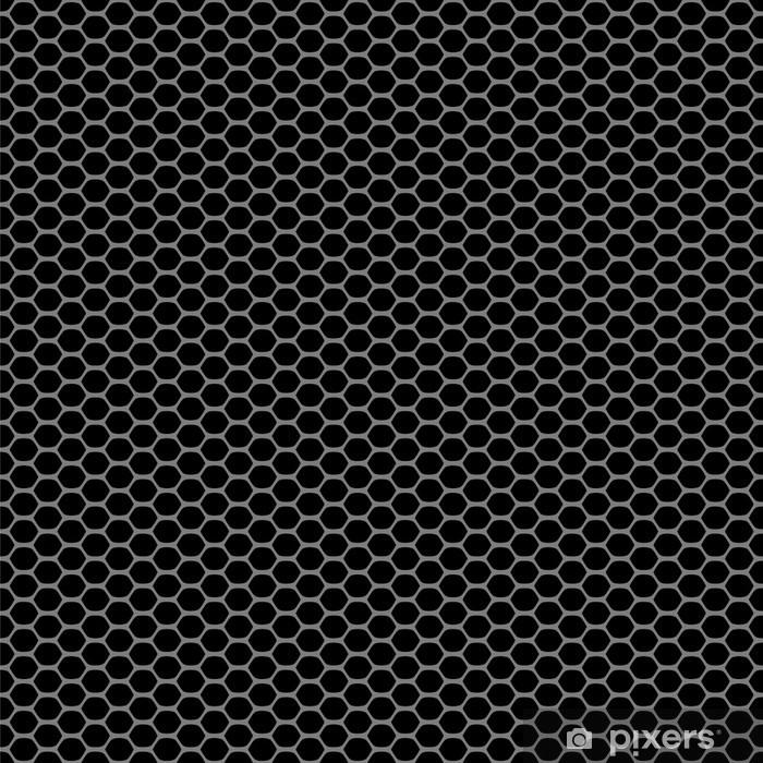 Vinyl Fotobehang Zwarte carbon abstracte geometrische naadloze patroon, vector - Achtergrond