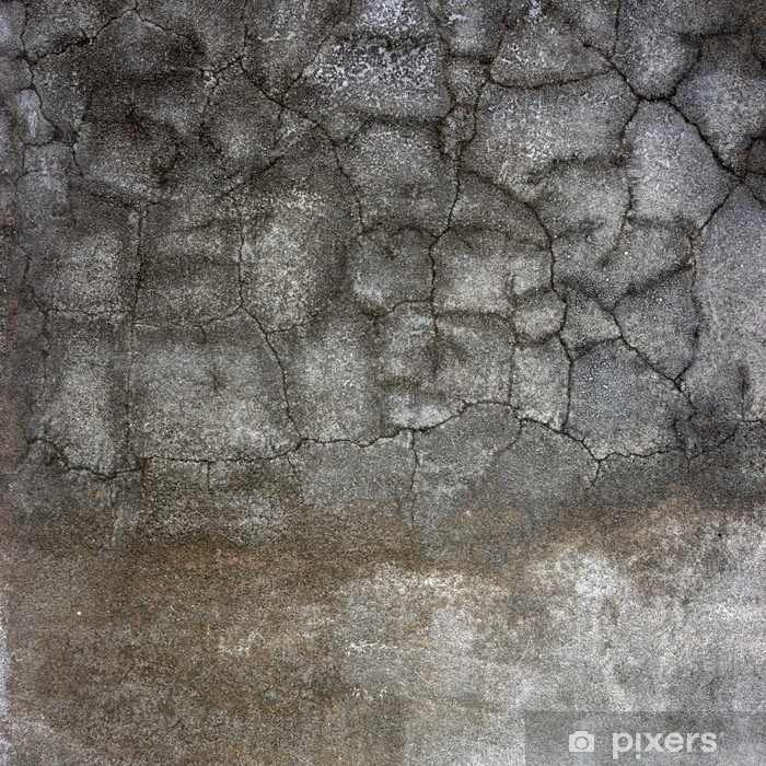 Poster Alte Betonwand mit Rissen. - Themen