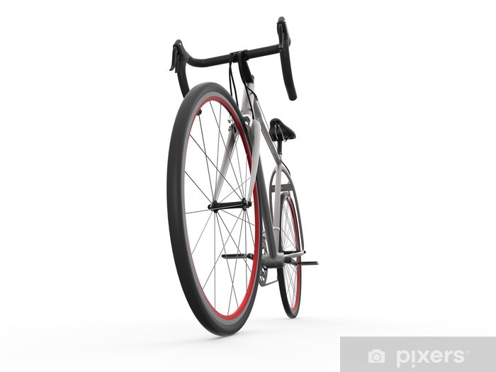 Speed Racing Bicycle Isolated on White Background Pixerstick Sticker - Individual Sports