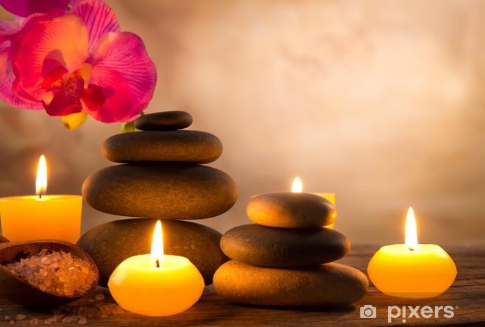 Spa-asetelma aromaattisilla kynttilöillä Pixerstick tarra -
