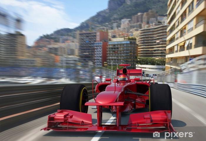 Fotomural Estándar F1 rojo racing monaco - Temas