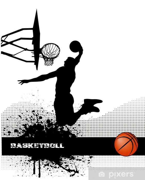 Fototapeta winylowa Mecz koszykówki na tle grunge - Koszykówka